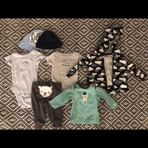 Baby outfits 7pcs